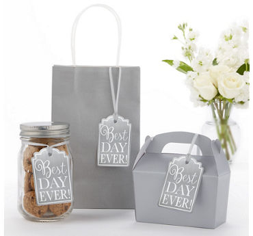 Silver Best Day Ever Favor Tags 25ct