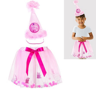 Child Pink Birthday Accessory Kit 2pc
