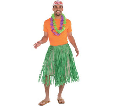 Mens Basic Luau Accessories Kit