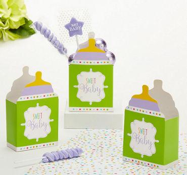 Gender-Neutral Baby Shower Favor Boxes 24ct