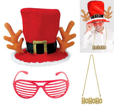 Adult Reindeer Santa Accessory Kit