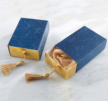 Metallic Constellation Favor Boxes
