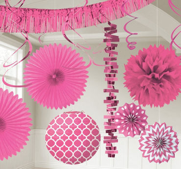bright pink decorations - Party City Decorations