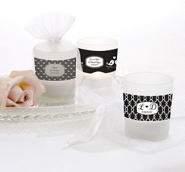 Personalized Glass Votive Candle Holders (Printed Label)