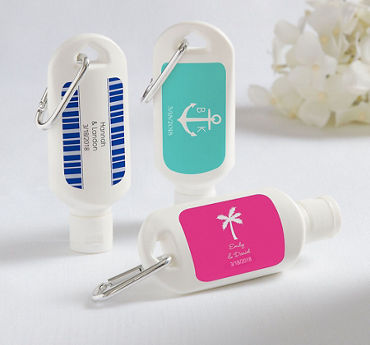 Personalized Sunscreen Wedding Favors (Printed Label)