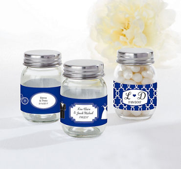 Personalized Mini Glass Mason Jars (Printed Label)