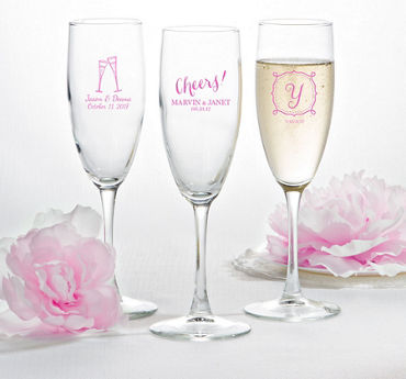 Personalized Champagne Flutes (Printed Glass)