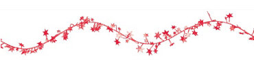 Red Star Wire Garland 12ft