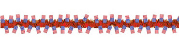 Red American Flag Tinsel Garland