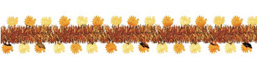 Harvest Turkey Tinsel Garland 15ft