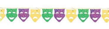 Mardi Gras Mask String Garland