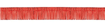 Red Foil Fringed Garland 20ft
