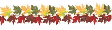 Fabric Fall Leaves Garland