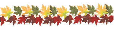 Fabric Fall Leaves Garland 6ft