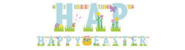 Happy Easter Large Letter Banner 11 1/2ft