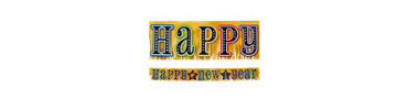 Glitter Fringe New Years Banner 9ft