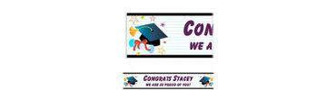 Grad Wishes Custom Graduation Banner 6ft