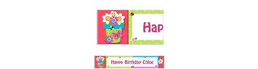 Garden Girl Custom Birthday Banner 6ft