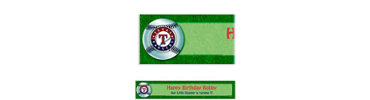 Texas Rangers Custom Banner 6ft
