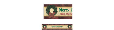 Rustic Christmas Custom Banner 6ft