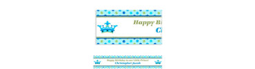 Little Prince Custom Birthday Banner
