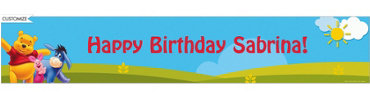 Pooh in Sunshine Custom Banner 6ft