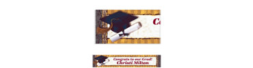 Golden Grad Custom Graduation Banner 6ft