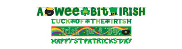 St. Patrick's Day Banner Value Pack 4ct