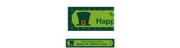 St. Paddy's Day Plaid Custom Banner 6ft