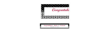 Damask & Polka Dot Custom Banner 6ft