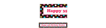 Chocolate & Dots Polka Dot Custom Banner 6ft
