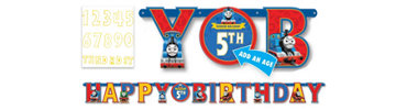 Add an Age Thomas the Tank Engine Letter Banner 10ft