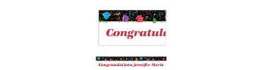 Colorful Grad Party Custom Banner 6ft