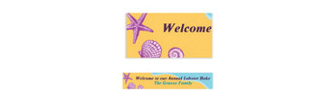 Seashells on the Seashore Custom Banner 6ft