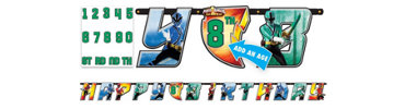 Add an Age Power Rangers Birthday Banner 10ft
