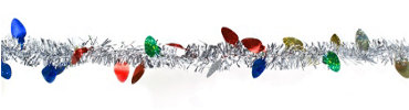 Light Bulb Tinsel Christmas Garland 9ft