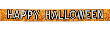 Orange Happy Halloween Fringed Banner 9ft