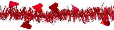 Valentines Day Heart Garland 9ft