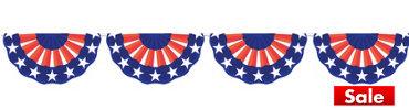 Plastic American Flag Bunting Garland