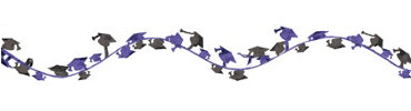 Purple Wire Graduation Garland 12ft