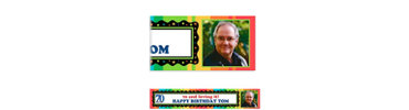 A Year to Celebrate 70 Custom Photo Banner 6ft