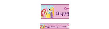 Disney Princess 1st Birthday Custom Banner 6ft