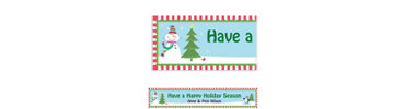Joyful Snowman Custom Banner 6ft
