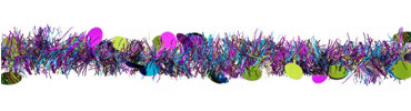 Bright Circle Tinsel Garland 9ft