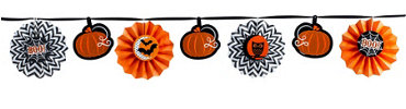 Halloween Paper Fan Garland
