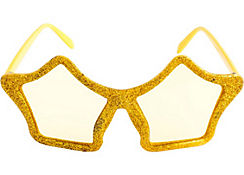 Glitter Gold Star Glasses