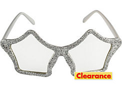 Glitter Silver Star Glasses