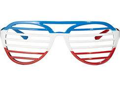Red, White & Blue Shutter Glasses