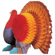 Honeycomb Turkey Centerpiece 15in