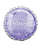 Foil Prismatic Princess Balloon 18in